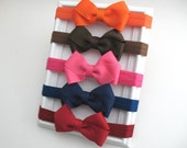 Autumn Hair Bows for Baby Girls, Baby Headbands, Set of 3 Hair Bow Headbands, Thanksgiving Headbands, Baby Headband Set, Autumn Bows