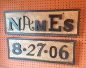 Custom Name and Word Plaque (5-9 letters)