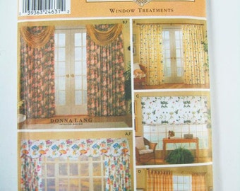 Simplicity Home Decor Pattern 9606 - Window Treatments - Drapes, Valance, Swags and Shade