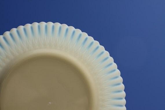 Cremax Petalware Depression Glass Plate MacBeth-Evans Opalescent