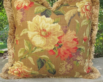 Designer Decorative Toss Pillow / shabby chic /RETRO