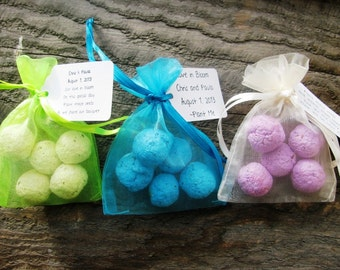 40 Seed Bomb Favors WITH personalized tag