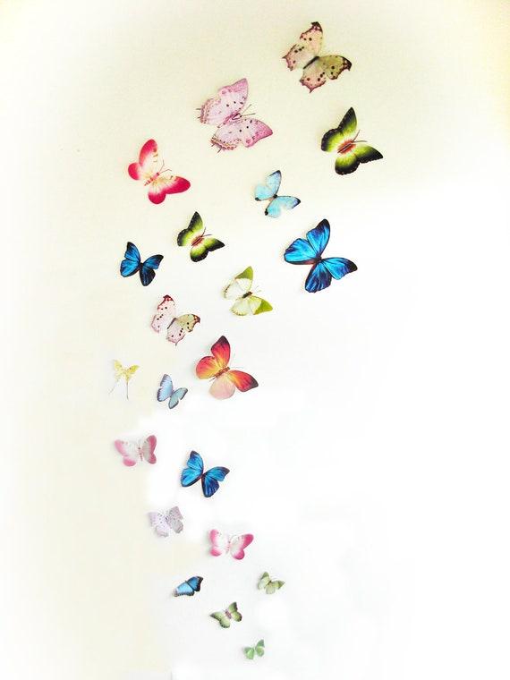3d Wall Art Decor Butterflies : D wall butterflies butterfly art decoration pink