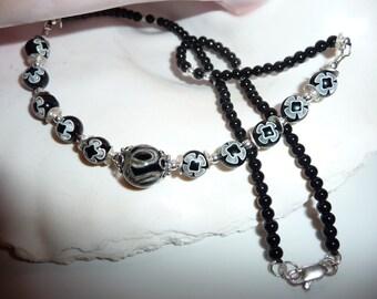 Black Lampwork Necklace