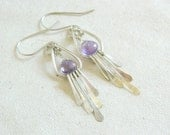 Amethyst and Sterling Earrings - 'September Evening' Purple Lavender Violet Stone Dangle - READY TO SHIP