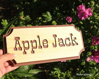 Customizable Engraved Wood Stall Sign Name Plaques Pet Animal Signs Wood Dog House Plaque