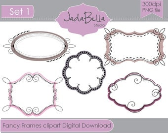 Instant Download Curly Frames Clipart  graphic file download/printable Personal and Small commercial use