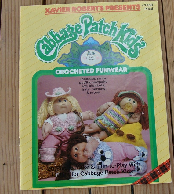 Cabbage Patch Kids Crocheted Funwear Patterns Xavier Roberts