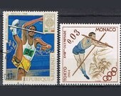 38 Vintage Postage Stamps -  Sports - Jumping High - Olympics