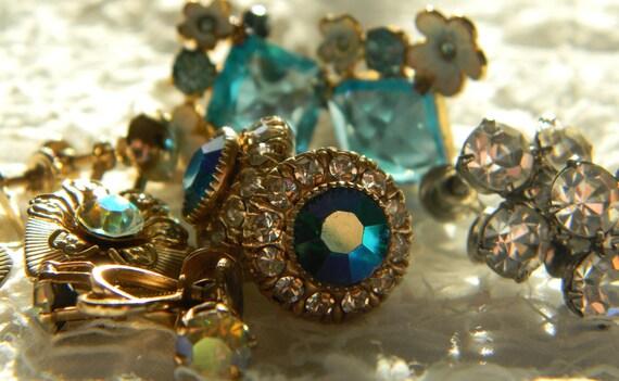 Five Pair Crystal  Earrings