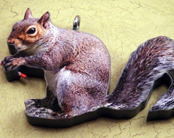 Squirrel Christmas tree ornament
