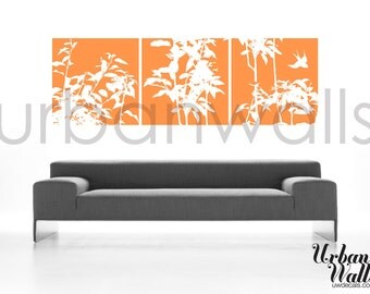 Vinyl Wall Sticker Decal Art - Framed Plants
