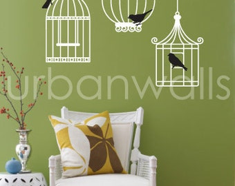 Vinyl Wall Sticker Decal Art - Birdcages