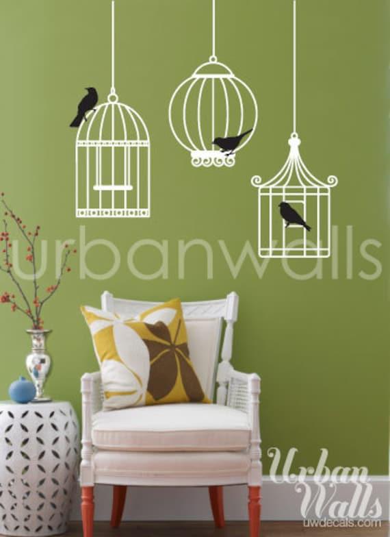 Vinyl Wall Sticker Decal Art - Birdcages