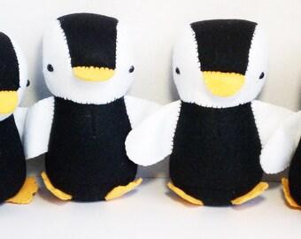 Black and white felt Penguin stuffed animal