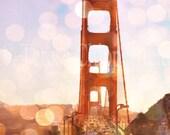 Golden Gate Bridge Photo, San Francisco Print, California,12x18,16x24,Multi Layered Digital Fine Art Photo Print, Historical Monument, bokeh