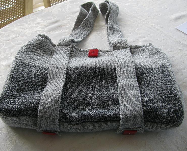 Knit Diaper Bag Pattern Free : Digital Machine Knit Diaper Bag/tote Bag Pattern Diaper Bag