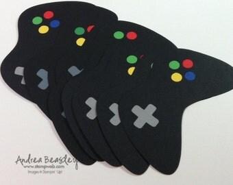Video Game Controller Die-Cuts (8) black