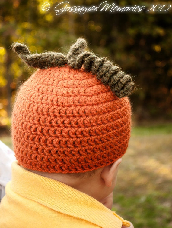 Pumpkin Pack Patterns - Knit and Crochet versions of pumpkin hat ...