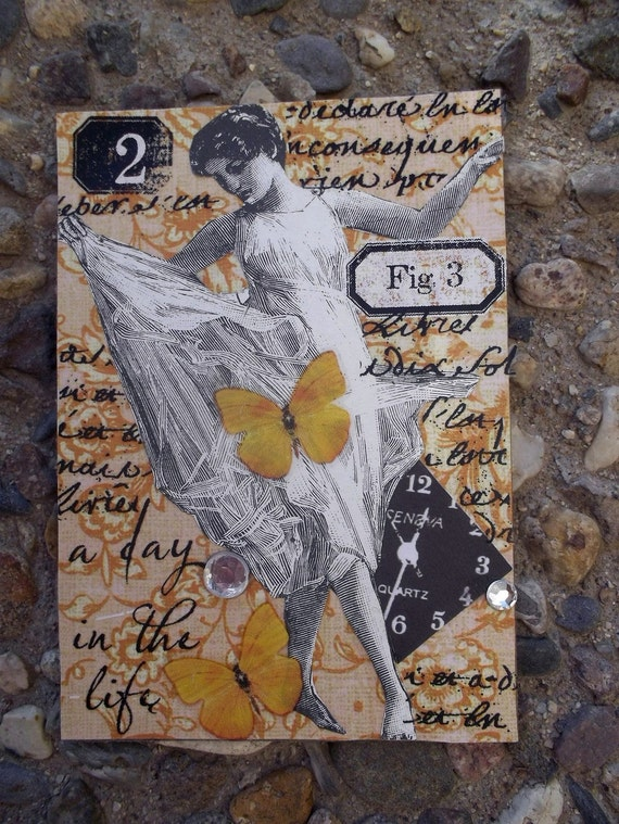 I Dance Because I Can  An ACEO Art Card Original Edition Handmade