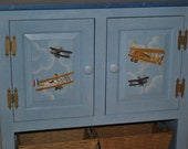 READY TO SHIP - Console Dresser - Vintage Airplane Design