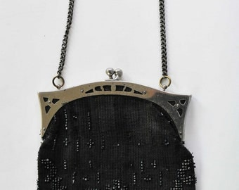 Antique Vintage Beaded Flapper Era Purse Art Deco