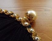 ANTIQUE Lady CLUTCH Vintage Clutch
