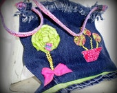 Little Girls Purse with a Flowers and Butterfly