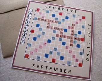 Scrabble Board Game - Save The Date