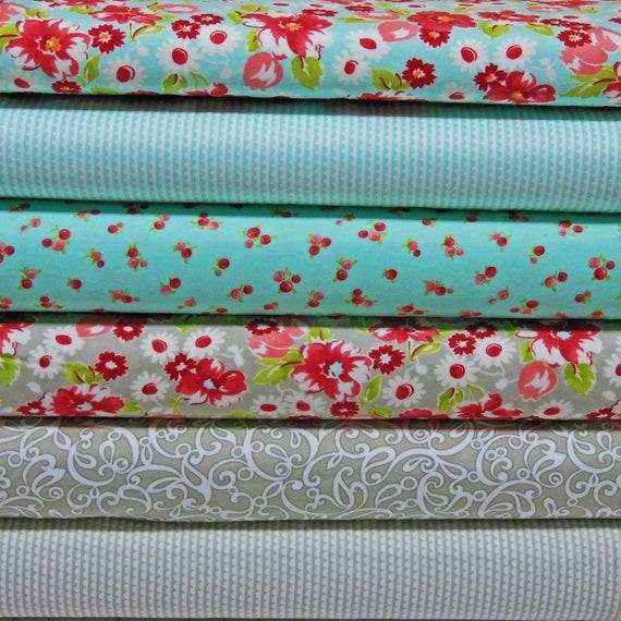 Ruby Flannel Fabric Half Yard Bundle Moda