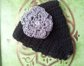 Winter Crochet Head Wraps With Flower