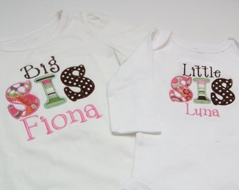 Big Sister Shirt and Little Sister Shirt