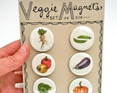 Veggie Magnets, Set of 6