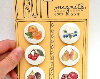 Fruit Magnets, Set of 6