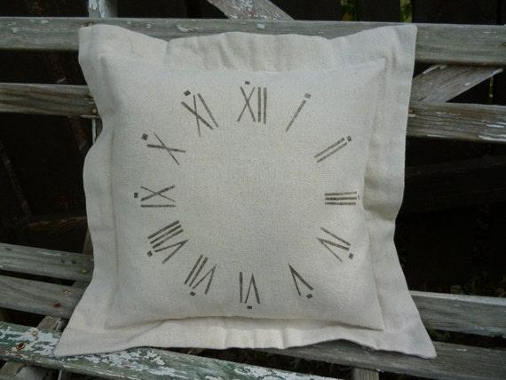 Clock Face Pillow