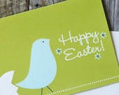 Happy Easter Blue Bird Greeting Card