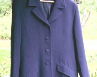 Womens Blazer Womens Wool Blazer Blue Blazer Vintage Blazer 90s Blazer Womens Vintage Clothing