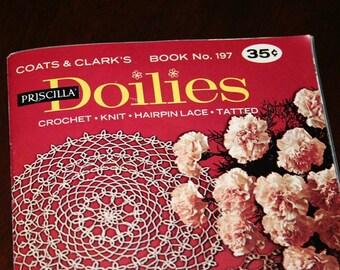 VintageDoily Pattern Book Crochet Lace Tatting