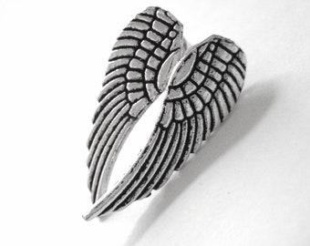 Silver Everyday Earring Studs - Sterling Boho Earring Studs - Tribal Studs - Tribal Earrings Women -Teen Girl Stud Earring Angel Wing Earing