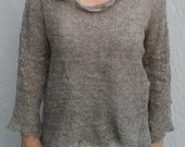 Oats Pullover with Deconstructed Neckline - Handknit art to wear