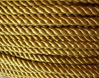 """4 yards 3/8"""" width gold braid cord trim by yard"""