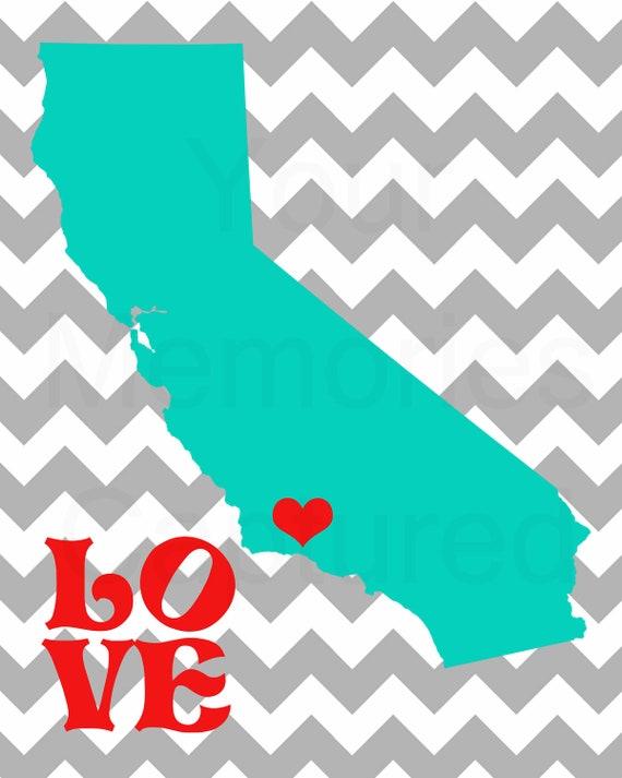 California Love Pop Art Printable - 5x7 or 8x10
