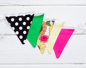 Black Green Hot Pink Bunting Good Will Bunting Kate