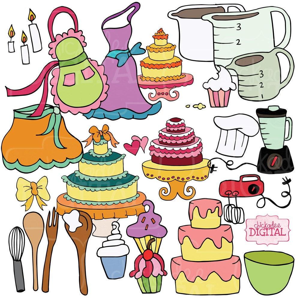 Baking A Cake Clip Art : Baking Clipart Kitchen Utensil Clip art Cupcake Clipart