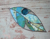 Stained Glass Large Leaf Window Ornament