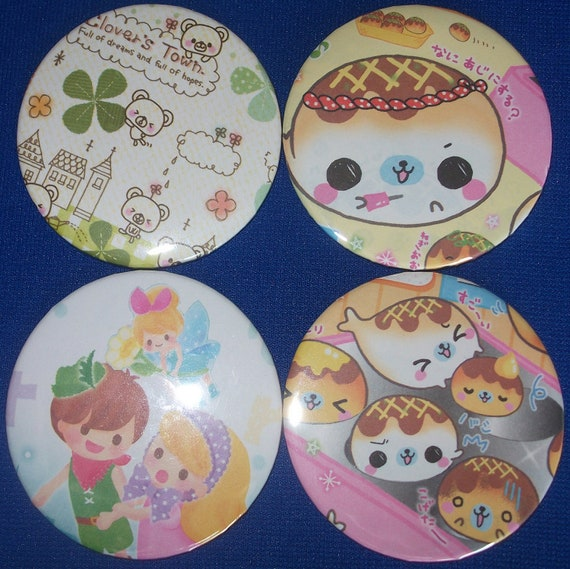Reserved- 2- Imperfect Kawaii Purse Mirrors, Two and a Quarter Inches Each