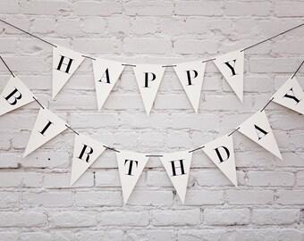 Happy Birthday Banner: Triangle