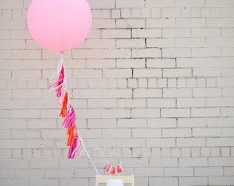 Balloon Tassels: Hot Pink