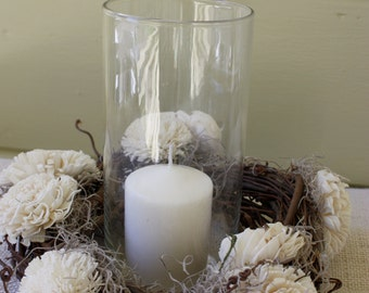 Rustic Centerpiece Wreath - Candle Ring