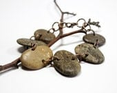Copper Metalwork, River Stone Jewelry- Large Beach Pebble Bracelet- Woodland, Rustic Jewellery- Handmade by Allybeans